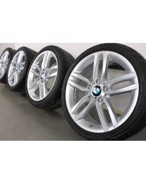 BMW Sommerkompletträder 1er F20 F21 2er F22 F23 18 Zoll 461 M Doppelspeiche RDC silber