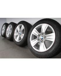 ORIGINAL BMW 5er F10 F11 / 6er F06 F12 F13 17 Zoll Winterradsatz Sternspeiche 327 silber