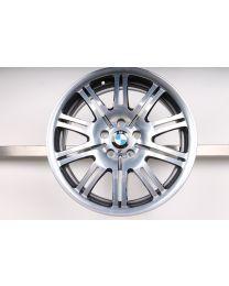 1x Original BMW 3er M3 E46 19 Zoll Alufelge 67 M Doppelspeiche Vorderachse