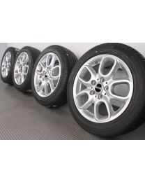 Original Mini F55 F56 F57 16 Zoll Sommerradsatz Loop Spoke 494 Silber
