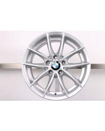 1x Original BMW X3 F25 X4 F26 17 Zoll Alufelge 304 V-Speiche Silber