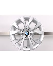 1x Original BMW X1 E84 17 Zoll Alufelge 318 V-Speiche Silber