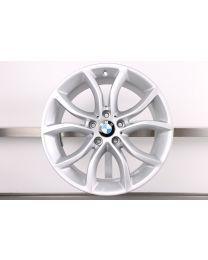 1x Original BMW X6 F16 19 Zoll Alufelge 594 V-Speiche Silber