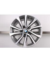 1x Original BMW X5 F15 X6 F16 19 Zoll Alufelge 595 V-Speiche Hinterachse