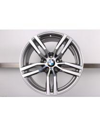 1x Original BMW X6 F16 19 Zoll Alufelge 623M Doppelspeiche Hinterachse