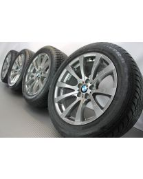 Original BMW X5M E70 / X6M E71 19 Zoll Winterradsatz M V-Speiche 298 silber