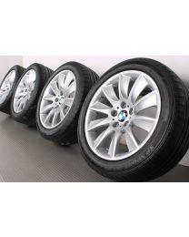 Original BMW 5er F10 (Limousine) / 6er F06 F12 F13 18 Zoll Sommerradsatz Turbinenstyling 329 Silber