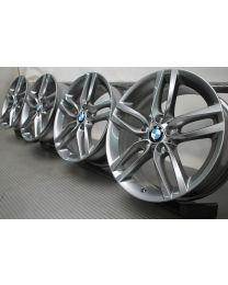 ORIGINAL BMW 1er F20 F21 / 2er F22 F23 18 Zoll Alufelgen 461M Doppelspeiche Ferric Grey