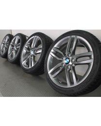 BMW Sommerkompletträder 1er F20 F21 2er F22 F23 18 Zoll 461 M Doppelspeiche RDC ferricgrey