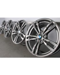 ORIGINAL BMW 3er F30 F31 / 4er F32 F33 F36 18 Zoll Alufelgen 441 M Doppelspeiche Ferric Grau