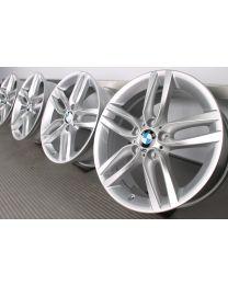 ORIGINAL BMW 1er F20 F21 / 2er F22 F23 18 Zoll Alufelgen 461M Doppelspeiche Silber