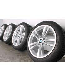 Original BMW 3er F30 F31 / 4er F32 F33 F36 18 Zoll Sommerradsatz 658 V-Speiche Silber