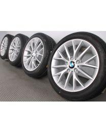 Original BMW 1er F20 F21 2er F22 F23 17 Zoll Sommerradsatz 380 Y-Speiche Silber