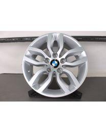 Original BMW X3 F25 X4 F26 17 Zoll Alufelge 305 Y-Speiche Silber