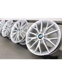 Original BMW 1er F20 F21 / 2er F22 F23 17 Zoll Alufelgen 380 Y-Speiche Silber