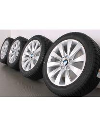 ORIGINAL BMW 3er F30 F31 / 4er F32 F33 F36 17 Zoll Winterradsatz 413 V-Speiche Silber
