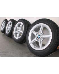 Original BMW 1er F20 F21 / 2er F22 F23 16 Zoll Winterradsatz 654 Sternspeiche Silber