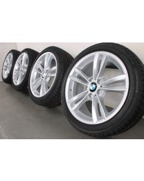 Original BMW 3er F30 F31 / 4er F32 F33 F36 18 Zoll Winterradsatz 658 V-Speiche Silber