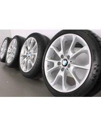 Original BMW 3er F30 F31 / 4er F32 F33 F36 18 Zoll Sommerradsatz 398 Y-Speiche Silber