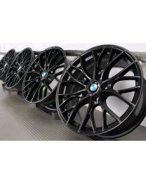 ORIGINAL BMW 3er F30 F31 / 4er F32 F33 F36 / 3er GT F34 18 Zoll Alufelgen 405 M Doppelspeiche Schwarz matt