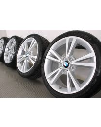 BMW Winterkompletträder 1er F20 F21 2er F22 F23 18 Zoll Doppelspeiche 385 silber RDCi