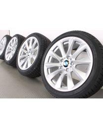 BMW Winterkompletträder 3er F30 F31 4er F32 F33 F36 18 Zoll 415 Turbinenstyling RDC silber