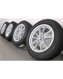 Original BMW X3 G01 / X4 G02 18 Zoll Winterradsatz 618 V-Speiche Silber