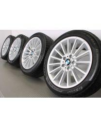 Original BMW 5er F10 F11 6er F06 F12 F13 18 Zoll Winterradsatz Vielspeiche 237 Silber