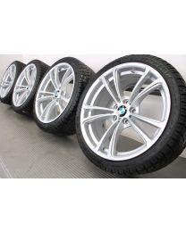 BMW Winterkompletträder M5 F10 M6 F06 F12 F13 20 Zoll 409 M Doppelspeiche RDC silber