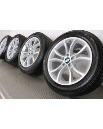 Original BMW X6 F16 19 Zoll Allwetterradsatz 594 V-Speiche Silber