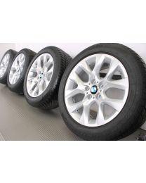 BMW Winterkomplettradsatz X5 F15 19 Zoll Styling 334 Y-Speiche Silber