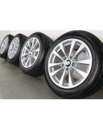 ORIGINAL BMW 3er GT F34 17 Zoll Winterradsatz V-Speiche 395 silber