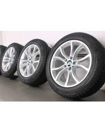 Original BMW X6 F16 19 Zoll Winterradsatz 594 V-Speiche Silber