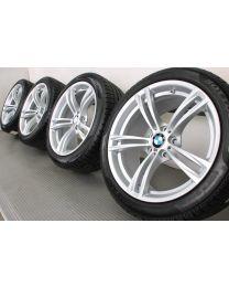BMW Winterkompletträder M5 F10 M6 F06 F12 F13 19 Zoll 408 M Doppelspeiche RDC silber