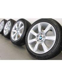 ORIGINAL BMW 5er F10 F11 / 6er F06 F12 F13 18 Zoll Winterradsatz 330 Sternspeiche Silber