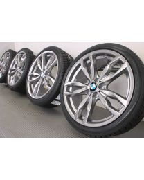 Original BMW 5er F10 F11 / 6er F12 F13 20 Zoll Winterradsatz 434M Doppelspeiche Ferric Grey