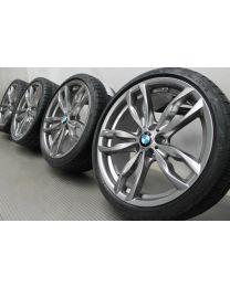 Original BMW 5er F10 F11 / 6er F12 F13 20 Zoll Sommerradsatz 434M Doppelspeiche Ferric Grey