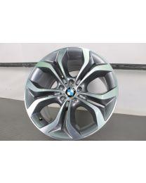 ORIGINAL BMW X6 E71 E72 20 Zoll Alufelge für die Hinterachse 336 Y-Speiche (Ferricgrey / Glanzgedreht)
