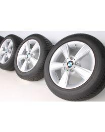 BMW Winterkompletträder 1er F20 F21 2er F22 F23 16 Zoll 376 Sternspeiche silber RDCi
