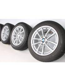 BMW Winterkompletträder 1er F20 F21 2er F22 F23 16 Zoll 378 V-Speiche silber RDCi