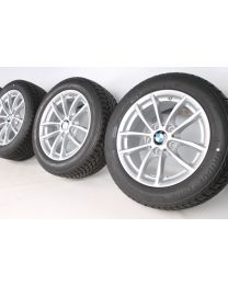 BMW Winterkompletträder 1er F20 F21 2er F22 F23 16 Zoll 378 V-Speiche RDC silber