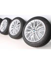 BMW Winterkompletträder 1er F20 F21 2er F22 F23 Y-Speiche 380 17 Zoll RDC Silber