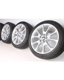 BMW Winterkompletträder 3er F30 F31 4er F32 F33 F36 18 Zoll 398 Y-Speiche RDC silber