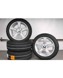 Original BMW 3er F30 F31 / 4er F32 F33 F36 17 Zoll Sommerradsatz Sternspeiche 393 silber