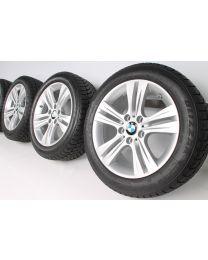 BMW Winterkompletträder 3er F30 F31 4er F32 F33 F36 17 Zoll 392 Doppelspeiche  RDC silber