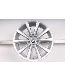 1x Original BMW 6er G32 GT / 7er G11 G12 18 Zoll Alufelge V-Speiche 642 silber