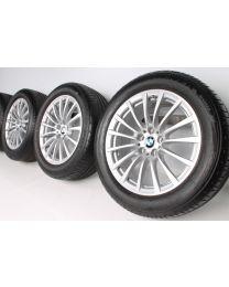 BMW Sommerkompletträder 6er G32 7er G11 G12 18 Zoll 619 Vielspeiche RDC silber