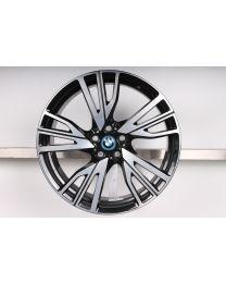 1x Original BMW i8 20 Zoll Alufelge W-Speiche 470 Bicolor (Vorderachse/Hinterachse rechte Fahrzeugseite)
