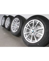 NEU Original BMW 3er F30 F31 4er F36 16 Zoll Sommerradsatz V-Speiche 390 Silber