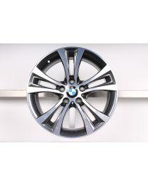 ORIGINAL BMW 1er F20 F21 / 2er 18 Zoll Alufelge 384 Doppelspeiche Bicolor (Orbitgrey/ Glanzgedreht)